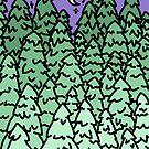 «pinos degradados» de Jennie Clayton