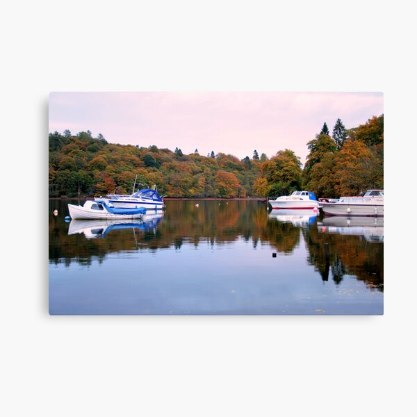 Boats  at  Luss Canvas Print