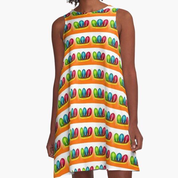 Easter Eggs A-Line Dress