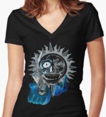 armed and destroy Women's Fitted V-Neck T-Shirt