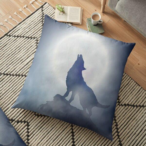 Howling Wolf Floor Pillow