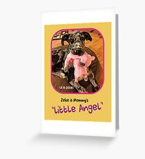 """Zeke is Mommy's Little Angel"" Greeting Card"