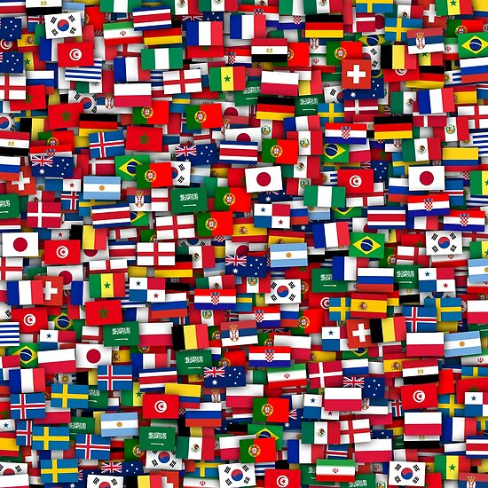 football world cup 2018 flags of all teams posters by dima v