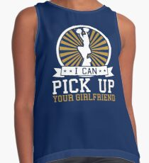 Cheerleader Men Funny I Can Pick Up Your Girlfriend  Contrast Tank