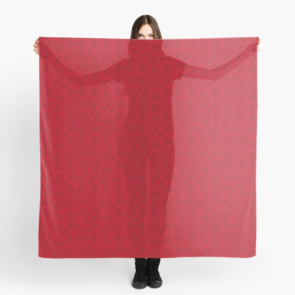 Tree diagram scarf - red and black Scarf