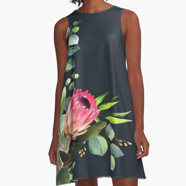 bush blue A-Line Dress