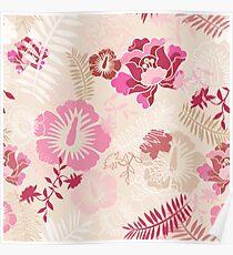 Pink botanical dreaming Poster