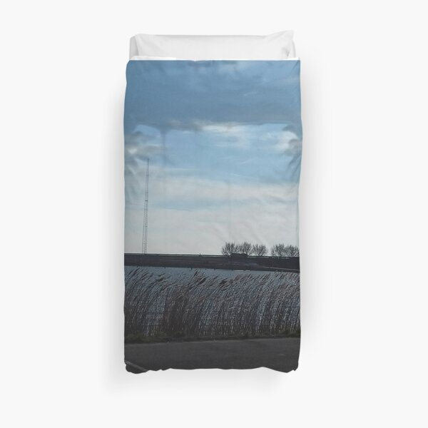 Parked at the water Duvet Cover