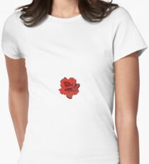 red rose Women's Fitted T-Shirt