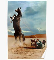 Horse and Man Ernst Haas, Stuntman with mustang on the set of The Misfits, 1960 Poster