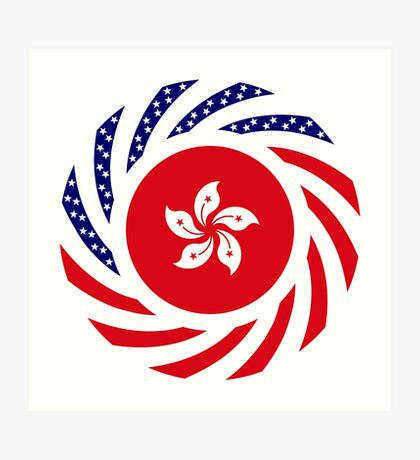 Hong Kong American Multinational Patriot Flag Series Art Print