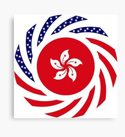 Hong Kong American Multinational Patriot Flag Series Canvas Print