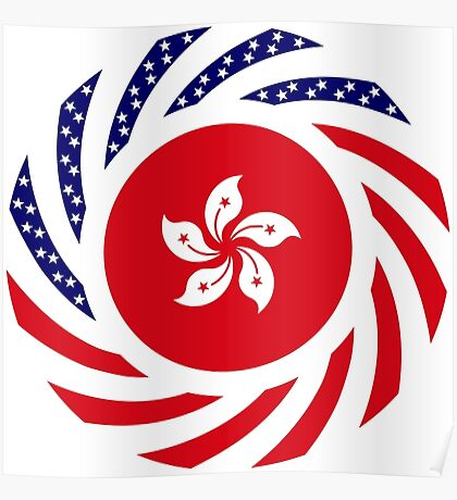 Hong Kong American Multinational Patriot Flag Series Poster
