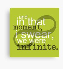 The Perks of Being a Wallflower Quote Canvas Print
