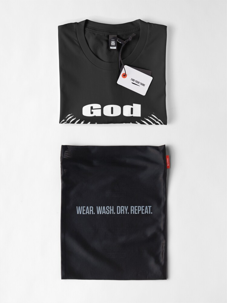 Alternate view of  GOD, FAMILY THEN BASEBALL – EVERYTHING ELSE CAN WAIT SHIRT & GIFTS Premium T-Shirt