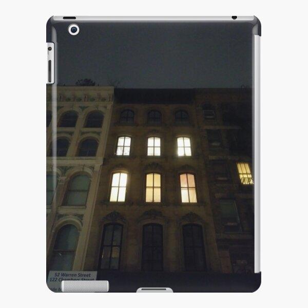 Building, skyscraper, symmetry, night lights, sky, evening, city view iPad Snap Case