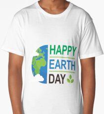 Happy Earth Day Shirt Long T-Shirt