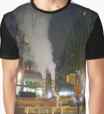 Building, skyscraper, symmetry, night lights, sky, evening, city view Graphic T-Shirt