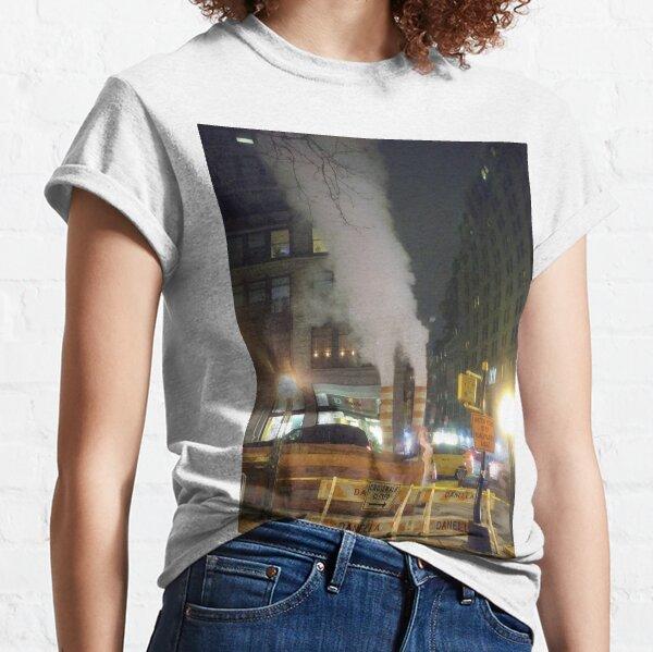 Building, skyscraper, symmetry, night lights, sky, evening, city view Classic T-Shirt