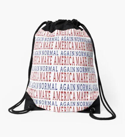 Make America Normal Again Drawstring Bag