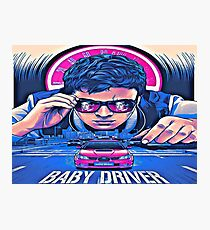 Baby Bad Boy Driver Photographic Print