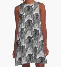 Kjat Monster Kitty A-Line Dress