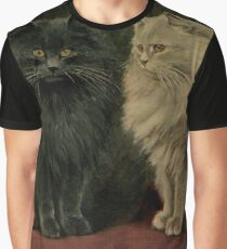 Vintage Persian Cat Illustration (1903) Graphic T-Shirt