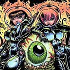 ALIEN EYE & SPACE BABES by George Webber