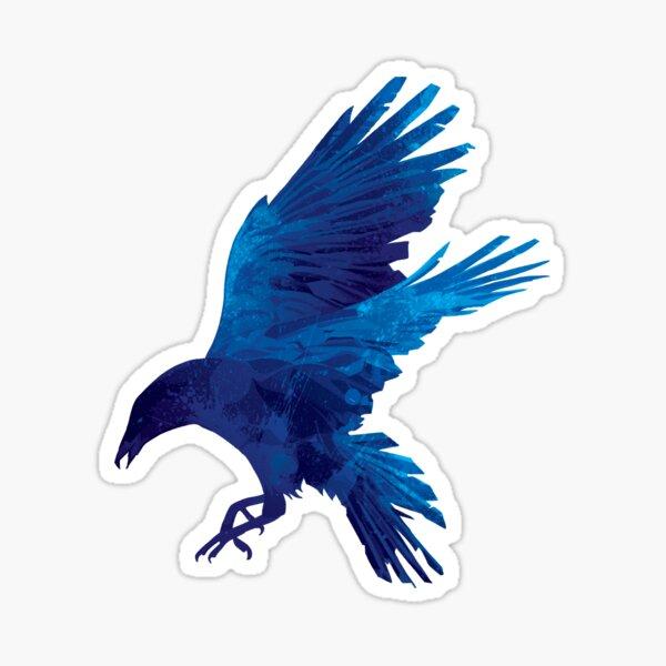 Raven Blue Painting Sticker
