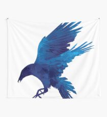 Raven Blue Painting Wall Tapestry