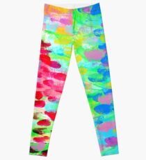 FIELD OF FLOWERS - colorful abstract painting  Leggings