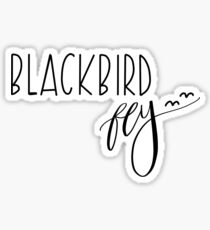 Blackbird singing in the dead of night Sticker