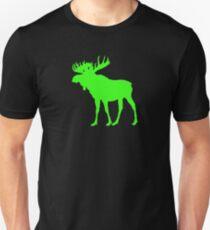 Moose: Bright Green Unisex T-Shirt