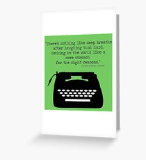 The Perks of Being a Typewriter Greeting Card