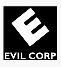 Evil Corp ~ White Photographic Print