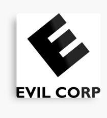 Evil Corp ~ Black Metal Print