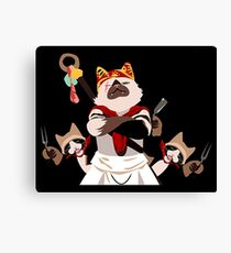 ironic character on game Canvas Print