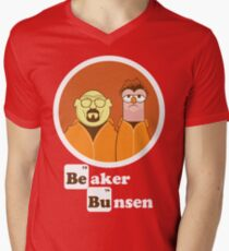 Beaker Bunsen Breaking Bad Mens V-Neck T-Shirt