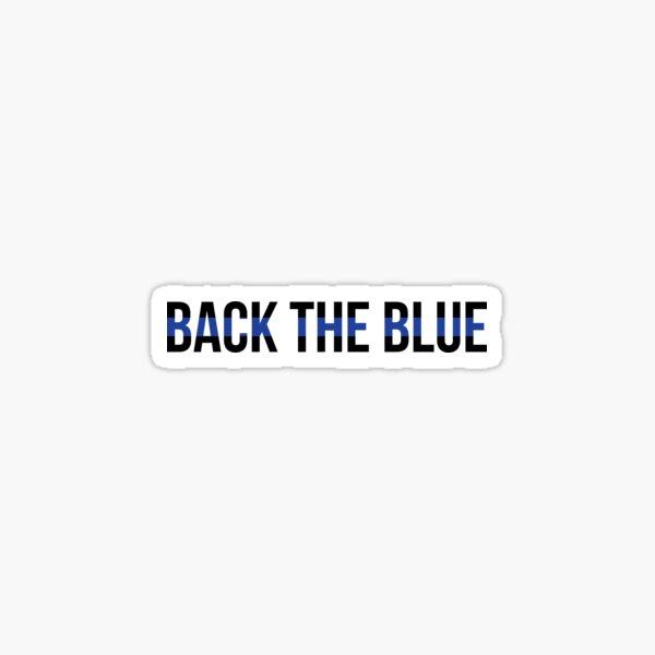 Back The Blue Sticker