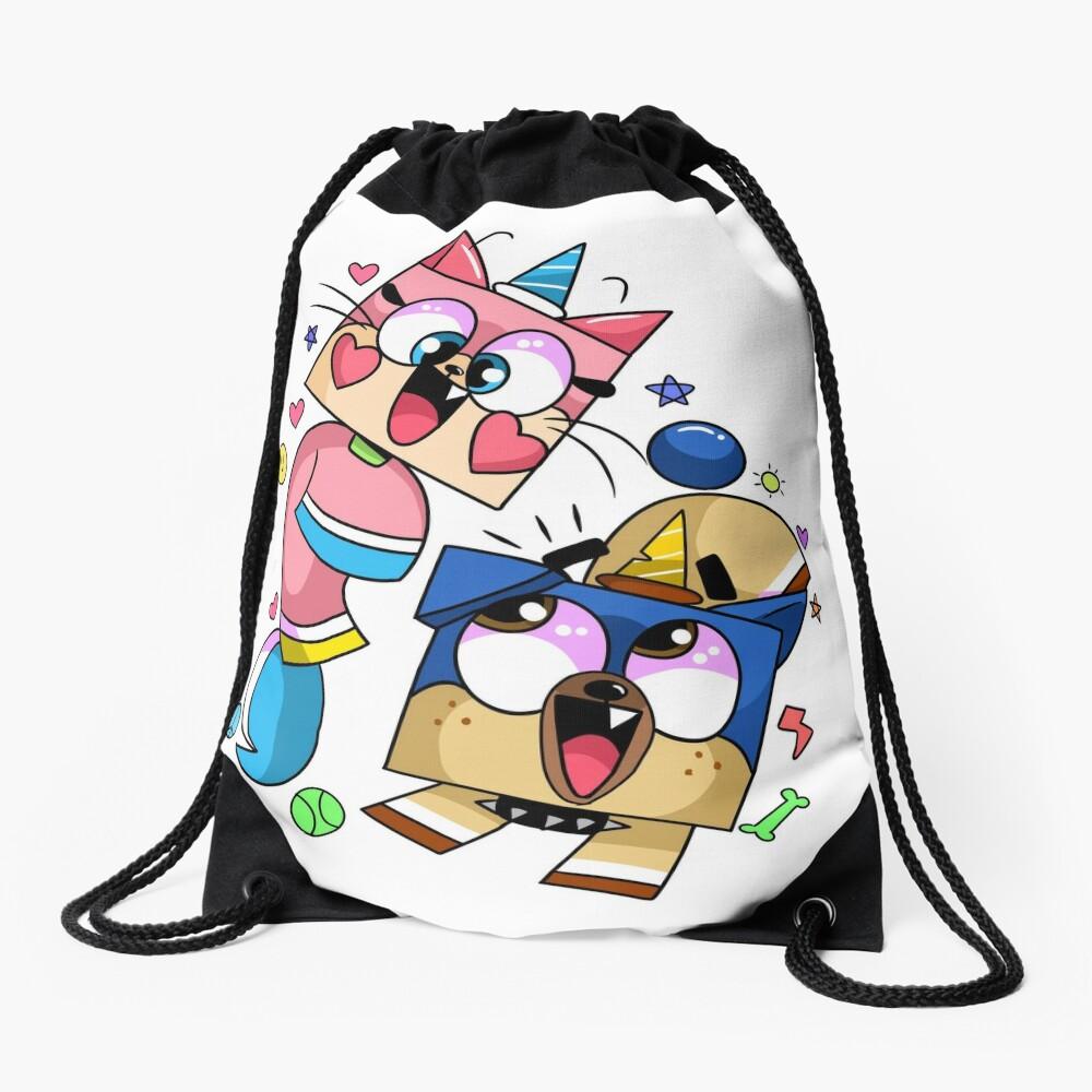 Unikitty and Puppycorn Cartoon Network Drawstring Bag