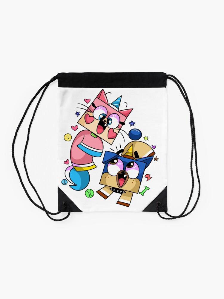 Alternate view of Unikitty and Puppycorn Cartoon Network Drawstring Bag