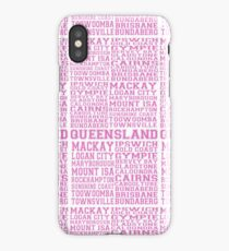Queensland and it's cities - Hot Pink iPhone Case