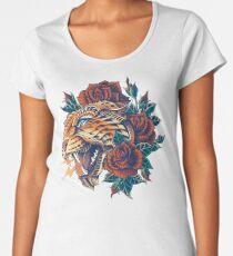 Camiseta premium para mujer Leopard adornado (Versión en color)