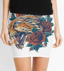 Ornate Leopard (Color Version) Mini Skirt