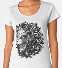 Camiseta premium de cuello ancho León