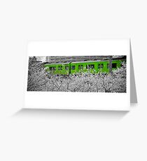 The train over the trees Greeting Card