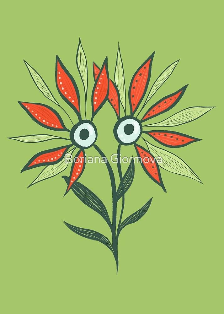 Cute Eyes Flower Monster by Boriana Giormova