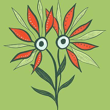 Cute Eyes Flower Monster by azzza