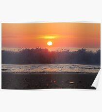 Ocean City Sunrise Over The Waves Poster