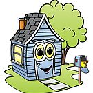 Blue House Cartoon by Graphxpro